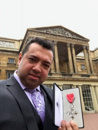 Image result for Shezad Nawab, 33, received the honour from HRH the Prince of Wales at a special ceremony at Buckingham Palace
